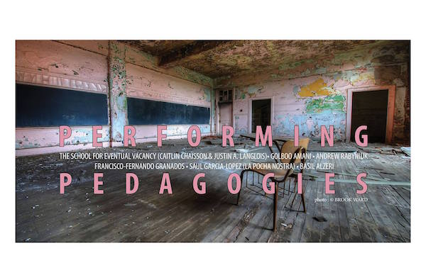 Performing Pedagogies (12th-20th March)
