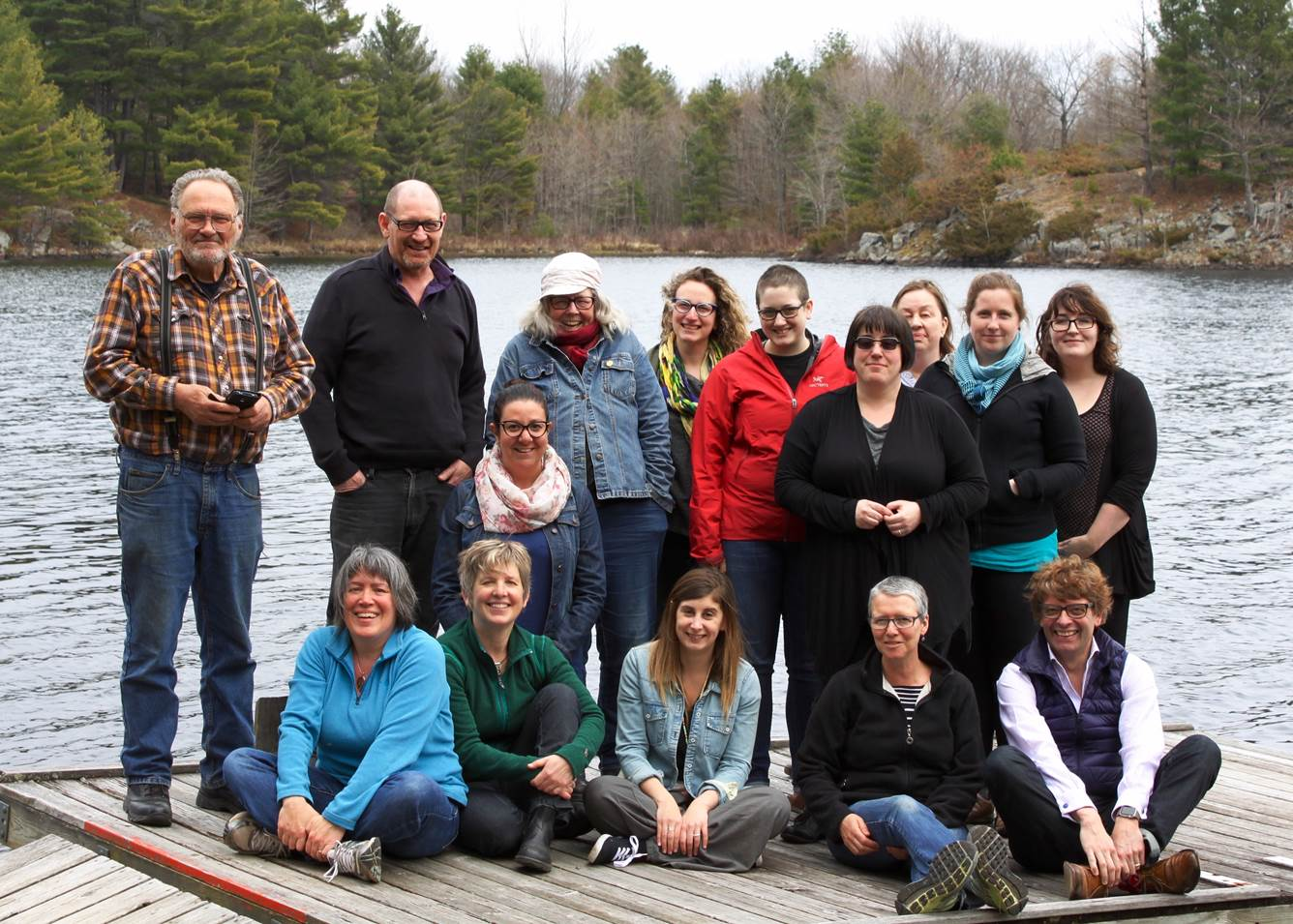 The Cultural Studies steering committee on retreat at Elbow Lake in May 2016.